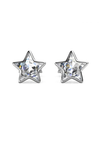 Her Jewellery silver Etoile Earring White- Anting Crystal Swarovski by Her Jewellery 13F3CAC01421A9GS_1