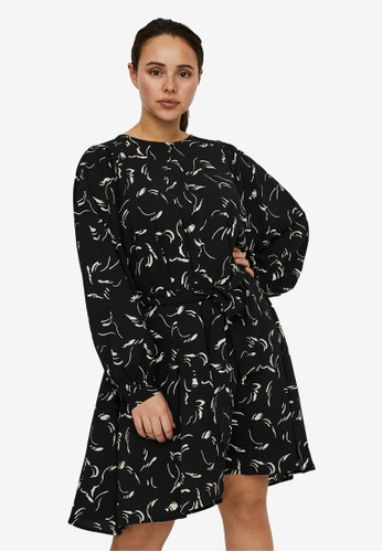 Vero Moda black Plus Size Odea Nellie Short Dress DF4D6AA2758EA2GS_1