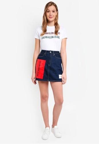 Calvin Klein white Short Sleeve New Fa Strght Tee - Calvin Klein Jeans B9F36AABFA2914GS_1