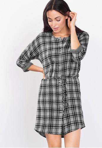 格紋迷你連身裙、 服飾、 洋裝ESPRIT格紋迷你連身裙最新折價