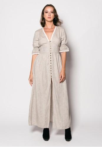 Gingersnap Bali multi Pure Linen Noana Long Dress A3C59AA4E638C7GS_1