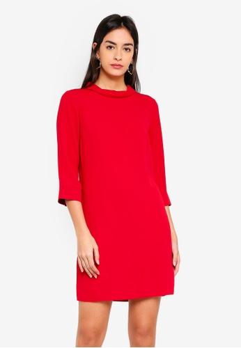 3c98fb0cfce Buy Dorothy Perkins Red Roll Neck Shift Dress Online on ZALORA Singapore