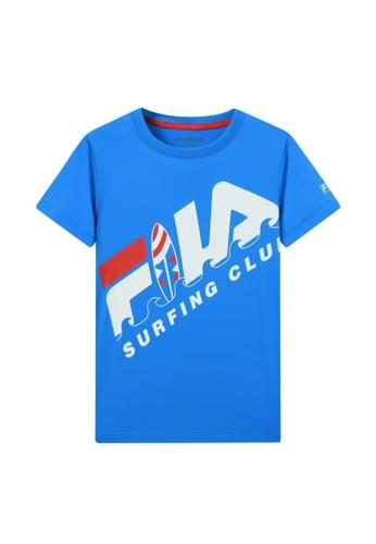 FILA blue FILA KIDS FILA SURFING CLUB Logo T-shirt 8-15yrs 37C64KAC91EAFBGS_1