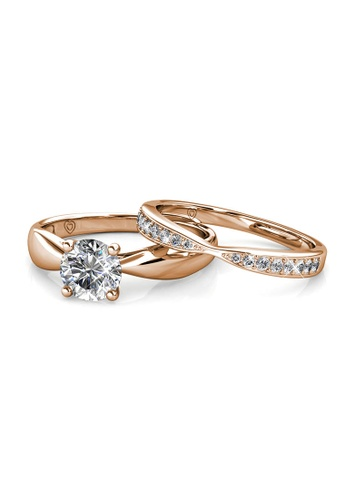 Her Jewellery gold Prestige Ring (Rose Gold) - Made with Premium grade crystals from Austria 39B33AC70EF0ECGS_1