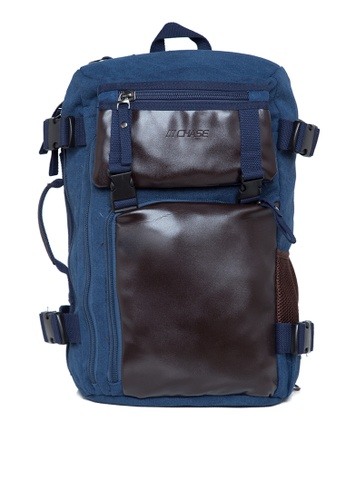Chase Fashion blue Canvas Laptop Duffle Backpack CH547AC0JNRBPH_1