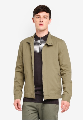 Brave Soul green Cotton Twill Harrington Jacket 2D6F7AABF22F64GS_1