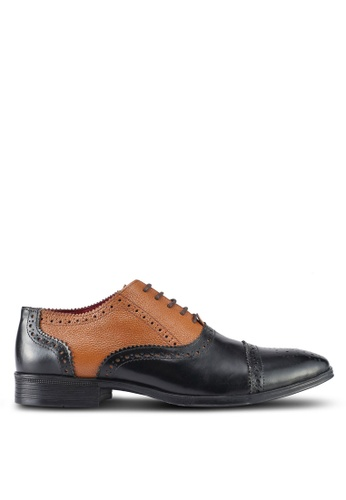ACUTO black and brown Leather Dress Shoes AC283SH0SL5UMY_1