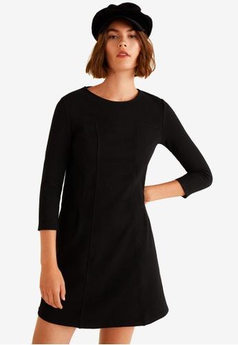 Mango black Dart Detail Dress 0111FAAC960532GS_1