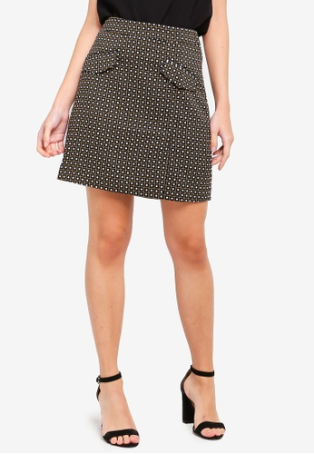 ZALORA black and multi Pockets Details Skirt AD809AAAC38238GS_1