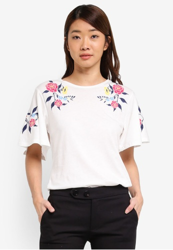 Dorothy Perkins white White Embroidered Top 1C7F1AA4E032B0GS_1