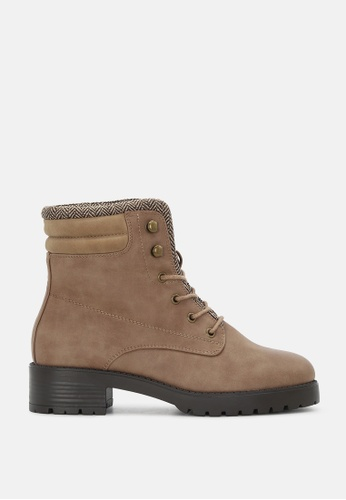 London Rag 褐色 系鞋带脚踝短靴 SH1715 E4B66SHA2E2C70GS_1