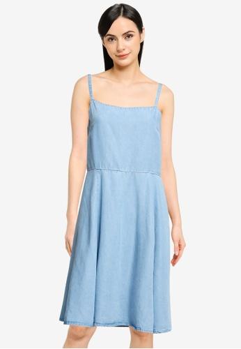 GAP blue Square Neck Cami Dress 67C44AA64D94FBGS_1
