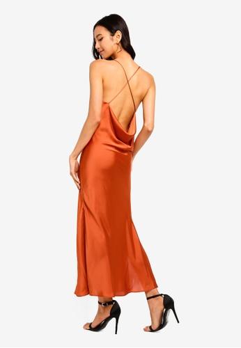 dcd0298127b0 TOPSHOP brown Petite Plain Satin Slip Dress 27A7EAAA7B23A1GS 1