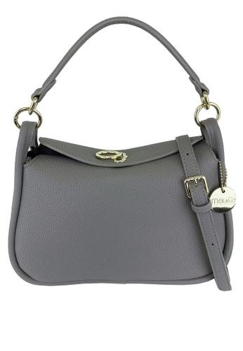 Mel&Co grey Faux Leather Sling Bag FAEA1AC02D391EGS_1
