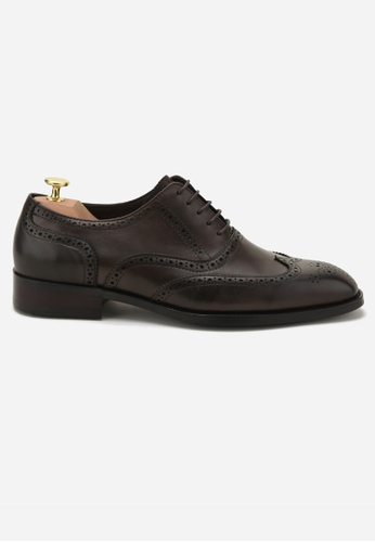 Earnest & Collective brown Westbourne II Coffee Brogue Oxfords 26911SHC27D7F3GS_1