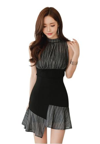 Sunnydaysweety black 2017 S/S New Elegant Sleeveless Sleeveless Top with Mini Skirt UA060626 SU219AA90DIJSG_1