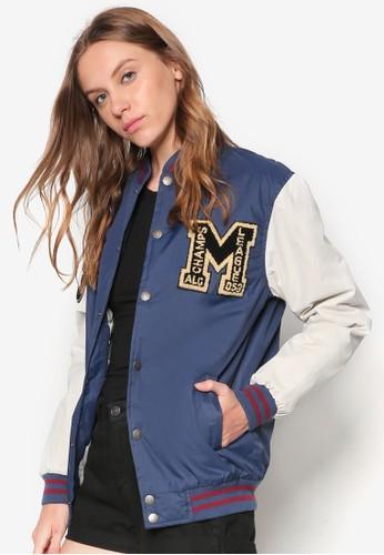 斜紋棒球運動外套, 服飾, 夾克 &ampzalora 折扣碼; 大衣