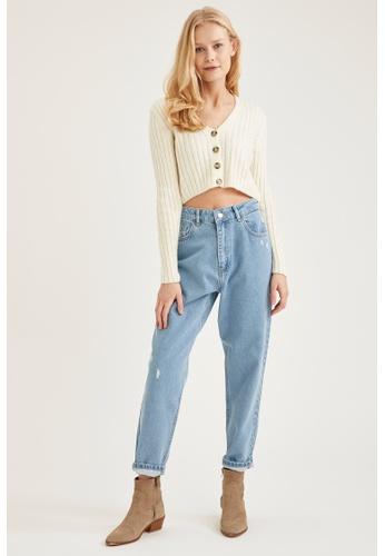DeFacto blue High Waist Mom Jeans 0DD91AA406C75FGS_1