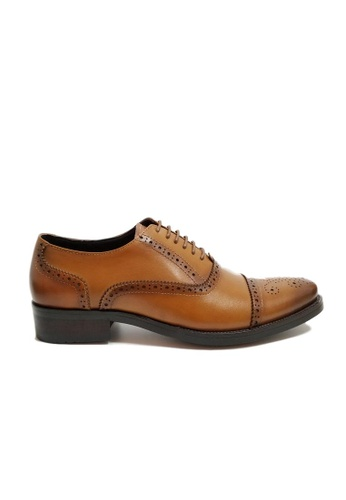 Kings Collection brown Gerald Oxford Shoes KI877SH97FPQPH_1