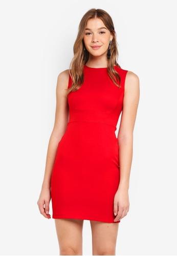 ZALORA BASICS red Basic Slim Sheath Dress 77653AAA5133F4GS_1