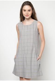 Checkered Sleeveless Dress