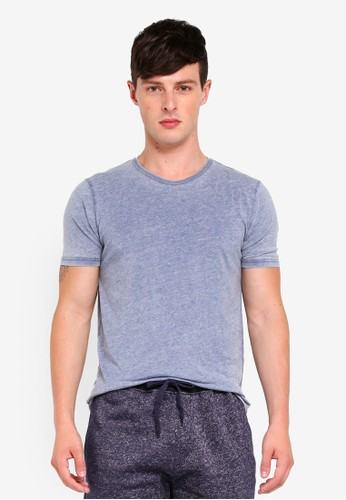Brave Soul navy Washed Out Crew Neck T-Shirt 082E8AA7769AC8GS_1
