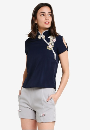 Megane navy Red Romance Marcellia Embroidery Set BA4C1AABABB8C8GS_1