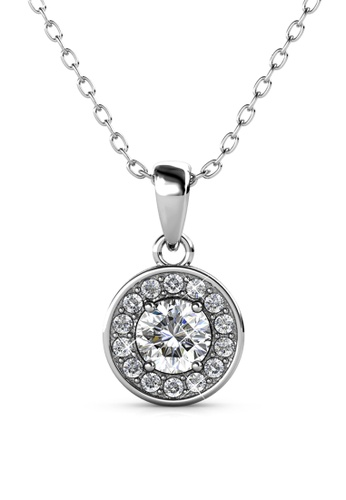 Her Jewellery silver Reese Pendant (White Gold) - Embellished with Crystals from Swarovski® 06394AC63EA1EFGS_1