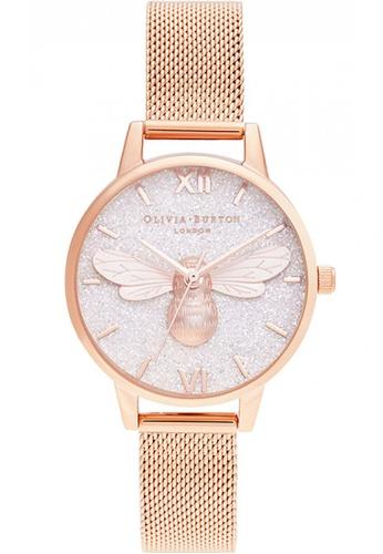 Olivia Burton gold Olivia Burton Glitter Dial ROSE GOLD Women's Watch (OB16FB04) 77DE7ACABAE806GS_1