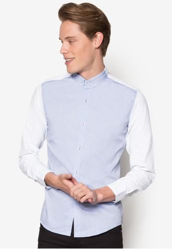 撞色長袖襯衫,esprit bag 服飾, 素色襯衫