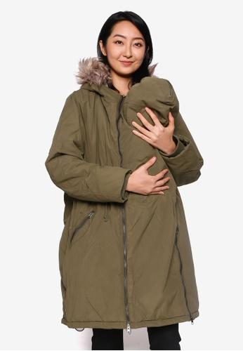 Mama.licious 綠色 Maternity Amy 3-in-1 Padded Coat DB8DDAA4F77717GS_1