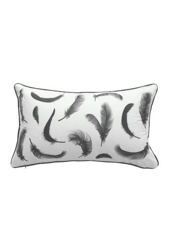 DILAS HOME Monotone Feather Cushion Cover ED013HL1A23115GS_1