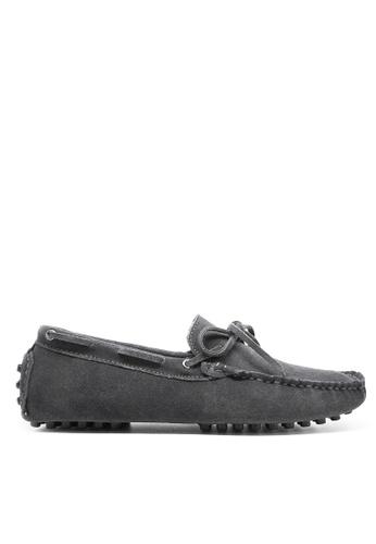 Twenty Eight Shoes 灰色 真牛猄皮休閒帆船鞋MC025 252A7SH2211466GS_1