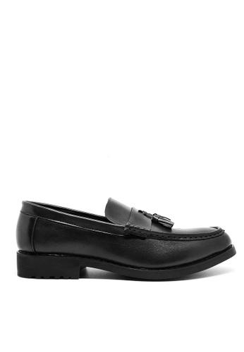 Twenty Eight Shoes 黑色 仿皮英式紳士Loafers MC222 958F7SHDE56C2BGS_1