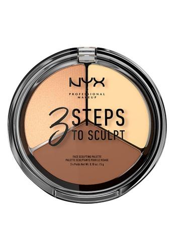 NYX Professional Makeup multi NYX Professional Makeup 3 Steps to Sculpt Face Sculpting Palette - LIGHT E5421BEC49248EGS_1