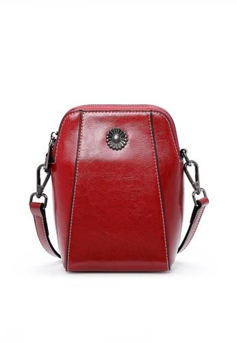 Twenty Eight Shoes red VANSA Burnished leather Crossbody Bag VBW-Cb6656 758CFACE060641GS_1