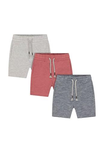 Mothercare multi ahoy little matey shorts - 3 pack A323EKA84E5B32GS_1