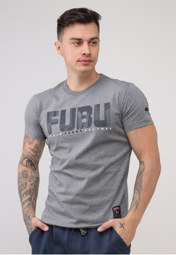 Fubu Boys grey Round Neck Muscle Fit T-Shirt 84BACAA0A03BF7GS_1