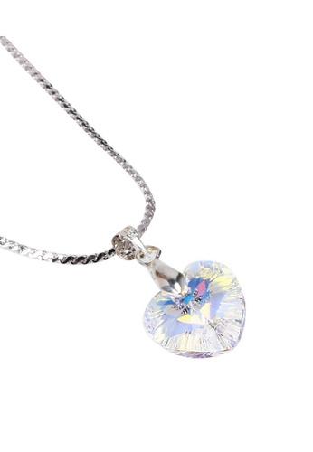 CELOVIS white and silver S-Series Swarovski Crystal Pendant CE446AC87MCEMY_1