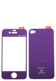Mercury Color Mirror Film for iPhone 4/4S (Purple)