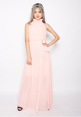 Seoul in Love pink Yeong Jin Dress in Pink SE496AA21XISSG_1