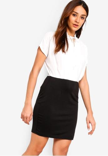 ZALORA white and multi Bow Work Dress 923F5AA9C23936GS_1