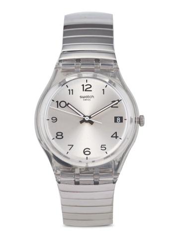 Swatch grey Silverall L 17C Watch 92FE1ACC1C28DAGS_1