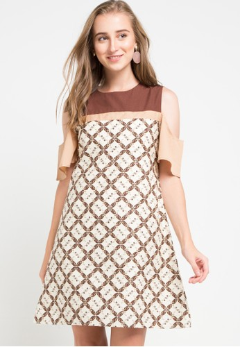 Rianty Batik multi and beige Dress Anggie FACCAAA1715FFEGS_1