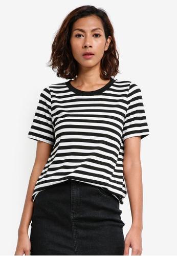Vero Moda black Nia Striped Tee 1235EAA8DB736DGS_1