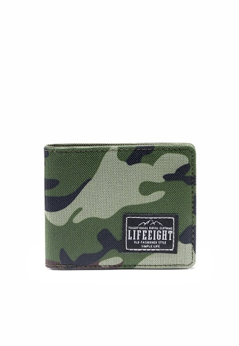 Life8 green Camo Print Billfold Wallet-Camouflage-06423 E9B2FAC45BFD36GS_1