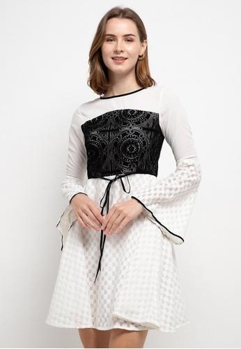 CHANIRA LA PAREZZA black and white Chanira La Parezza Sienna Dress CC147AA84C19F3GS_1