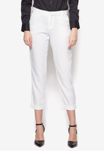 Simone 直zalora 台灣門市筒西裝長褲, 服飾, 長褲及內搭褲