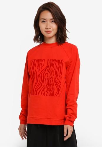 Selected Femme red Zelma Sweatshirt SE157AA0S5QWMY_1
