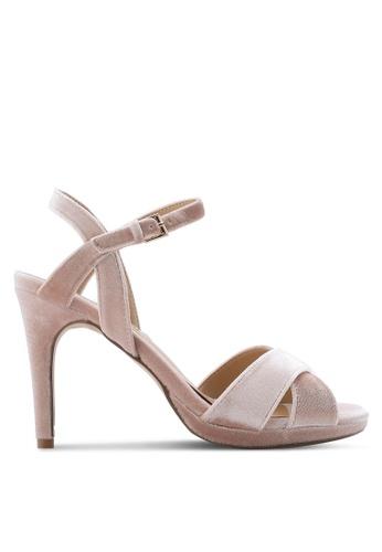 Dorothy Perkins pink Blush Sonia Velvet Heels DO816SH55BZWMY_1